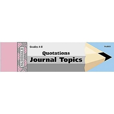 McDonald Publishing® Journal Booklet, Quotations