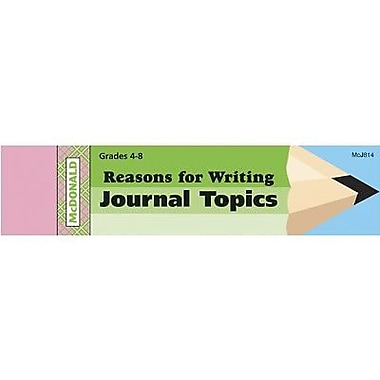 McDonald Publishing® Journal Booklet, Reasons For Writing