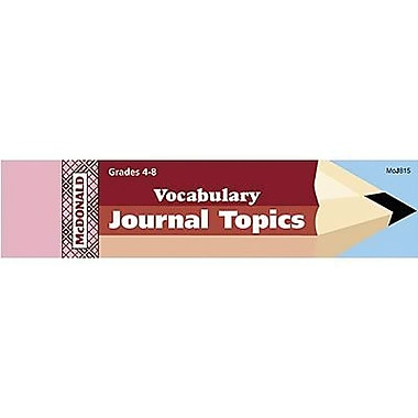 McDonald Publishing® Journal Booklet, Vocabulary
