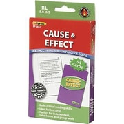 Edupress® Reading Comprehension Practice Card, Cause and Effect, Reading Level 5.0 - 6.5
