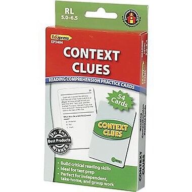 Edupress® Reading Comprehension Practice Card, Context Clues, Reading Level 5.0 - 6.5