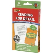 Edupress® Reading Comprehension Practice Card, Reading For Detail, Reading Level 5.0 - 6.5