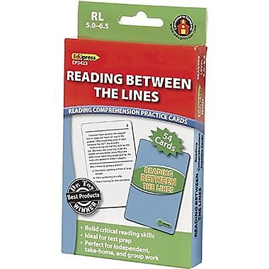 Edupress® Reading Comprehension Practice Card, Reading Between The Lines, Reading Level 5.0 - 6.5