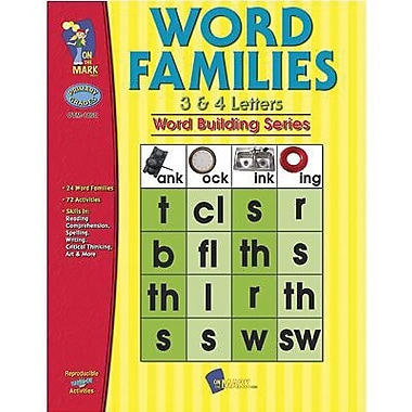 On The Mark Press® Word Families 3 and 4 Letter Book, Grades 1st - 3rd