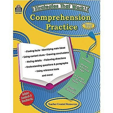 Teacher Created Resources® Strategies That Work Comprehension Practice Book, Grades 7th - 8th