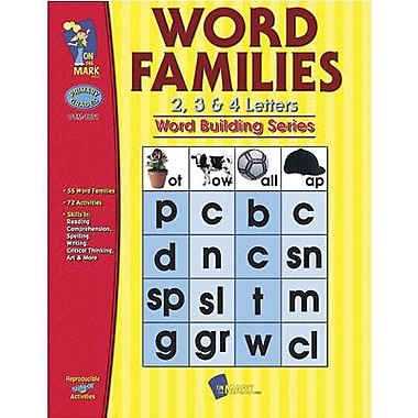 On The Mark Press® Word Families 2, 3, and 4 Letter Book, Grades 1st - 3rd
