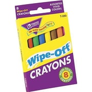 Trend Enterprises® Wipe-Off® Regular Colors Crayon, 8/Pack