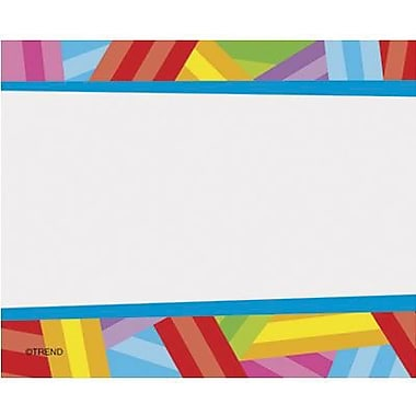 Trend Enterprises® pre-kindergarten - 9th Grades Name Tag, Kaleidoscope