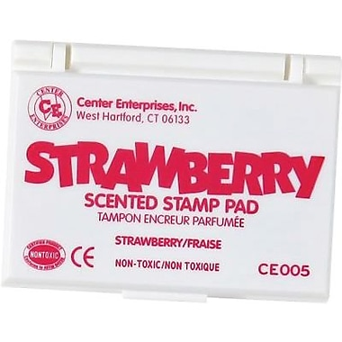 Center Enterprises® Scented Stamp Pad, Strawberry/Hot Pink