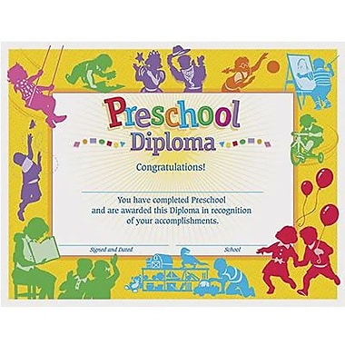 Trend Enterprises® Classroom pre-school Diploma, 8 1/2in.(L) x 11in.(W)