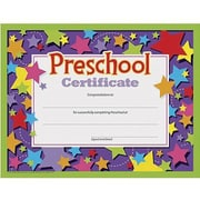 Trend Enterprises® Completion Certificate, pre-school