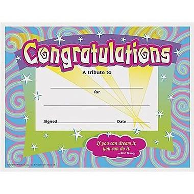 Trend Enterprises® Spirals Congratulations Certificate,8 1/2in.(L) x 11in.(W)