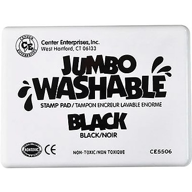 Center Enterprises® Jumbo Washable Stamp Pad, Black