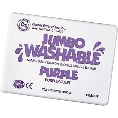 Center Enterprises® Jumbo Washable Stamp Pad, Purple
