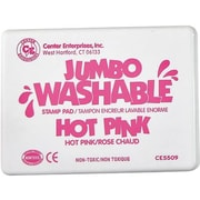 Center Enterprises® Jumbo Washable Stamp Pad, Hot Pink