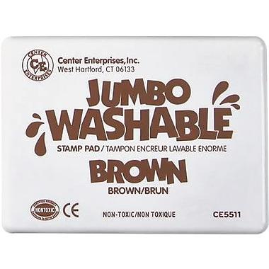 Center Enterprises® Jumbo Washable Stamp Pad, Brown