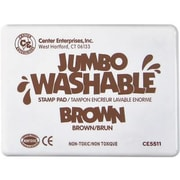 Center Enterprises® Jumbo Washable Stamp Pad, Brown