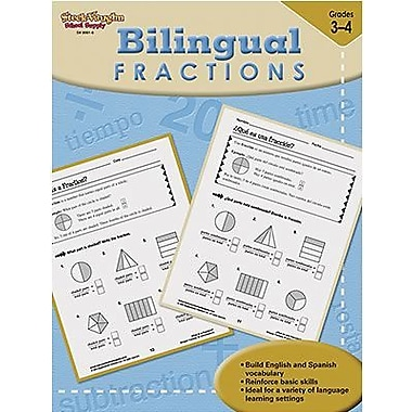 Harcourt Steck-Vaughn Bilingual Math Fractions Book, Grades 3rd - 4th