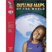On The Mark Press® Outline Maps of The World Mapping Skills, Grades 1st - 8th
