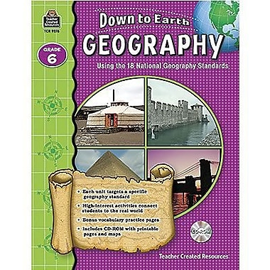 Teacher Created Resources® Down To Earth Geography Book, Grades 6th
