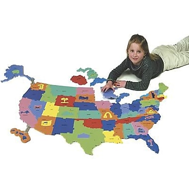 Chenille Craft® WonderFoam Giant USA Puzzle Map, 73 Pieces/Pack
