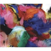 Chenille Craft® Hot Colors Feathers, 125 Pieces