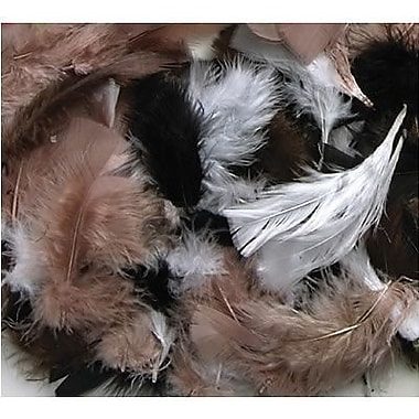 Chenille Craft® Natural Colors Feathers, 125 Pieces