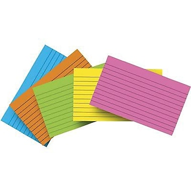 Top Notch Teacher Products® Brite Assorted Lined Index Card, 3in. x 5in.