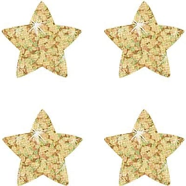 Trend Enterprises® SuperShapes Chart Seal, Gold Sparkle Star