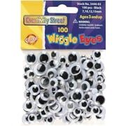 Chenille Craft® Wiggle Eyes, Black, 5/8""