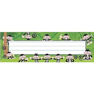 Trend® Desk Toppers® pre-kindergarten - 2nd Grades Name Plate, Monkey Mischief