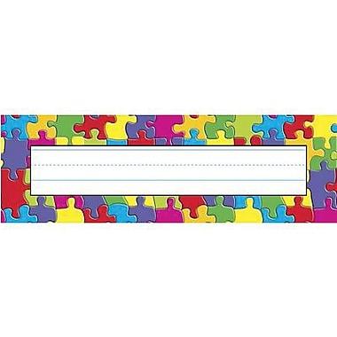 Trend® Desk Toppers® pre-kindergarten - 3rd Grades Name Plate, Jigsaw