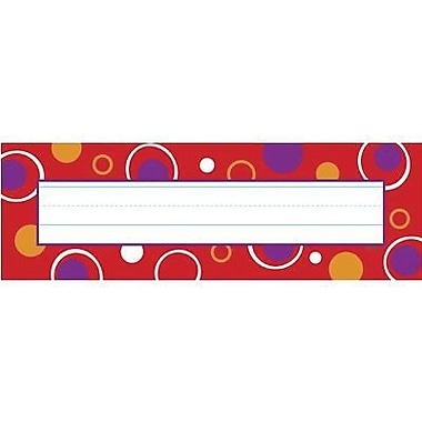 Trend® Desk Toppers® Kindergarten - 4th Grades Name Plate, Red Fizz
