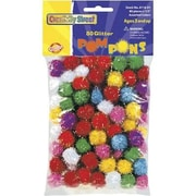 Chenille Craft® Pom Pons Glitter, Assorted