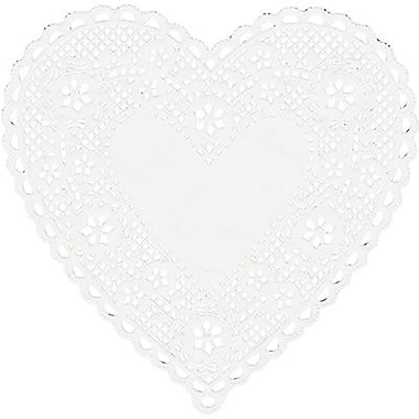Hygloss® Heart Paper Lace Doilies, 4in., White