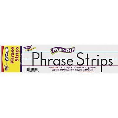 Trend Enterprises® White Wipe-Off Sentence Strip, 12in.(L) x 3in.(W)