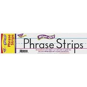 "Trend Enterprises® White Wipe-Off Sentence Strip, 12""(L) x 3""(W)"