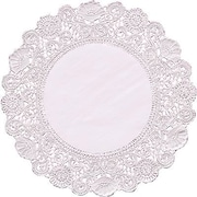 """Hygloss® Round Paper Lace Doilies, P - 12, 6"""""""