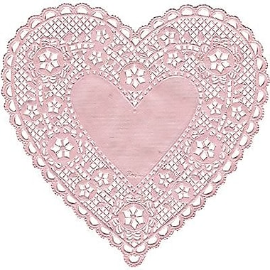 Hygloss® Heart Paper Lace Doilies, 4in., Pink