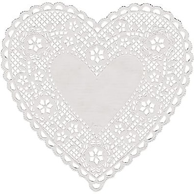 Hygloss® Heart Paper Lace Doilies, 6in., White