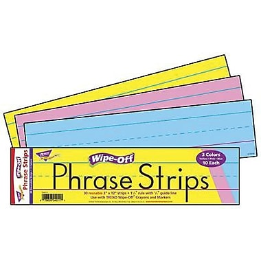 Trend Enterprises® Multi Color Wipe-Off Sentence Strips