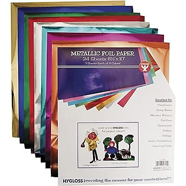 Hygloss® 10in. x 8 1/2in. Metallic Foil Paper