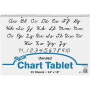 Pacon® Cursive Cover Chart Pad, Unruled