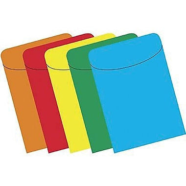 Top Notch Teacher Products® Peel and Stick Assorted Brite Primary Pocket, 375/Pack