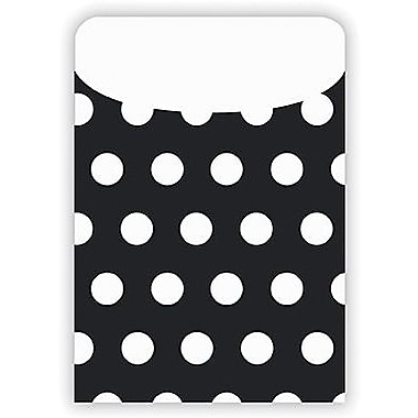 Top Notch Teacher Products® Peel and Stick Polka Dots Pocket, Black