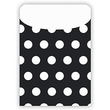 Top Notch Teacher Products® Polka Dots Pocket, Black