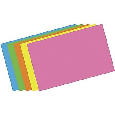 Top Notch Teacher Products® Brite Assorted Blank Index Card, 5in. x 8in.