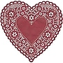 Hygloss® Heart Paper Lace Doilies, 6, Red