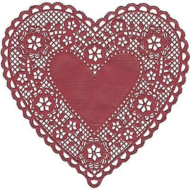 Hygloss® Heart Paper Lace Doilies, 6in., Red