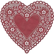 "Hygloss® Heart Paper Lace Doilies, 6"", Red"